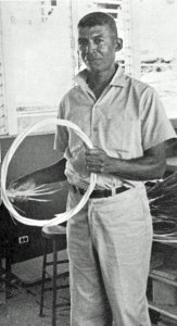 Mr. Herman Prince. St John's premier basketmaker and teacher.