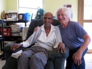Bernie and his good friend, Mr. Guy H. Benjamin (Benji), who he met while living in the USVI.