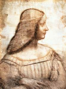 Patrons, such as Isabella D'este of Mantua supported the work of Leonardo DaVinci.